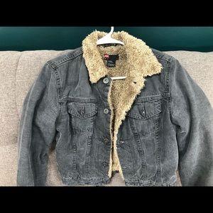 Diesel fur collar & interior jean jacket